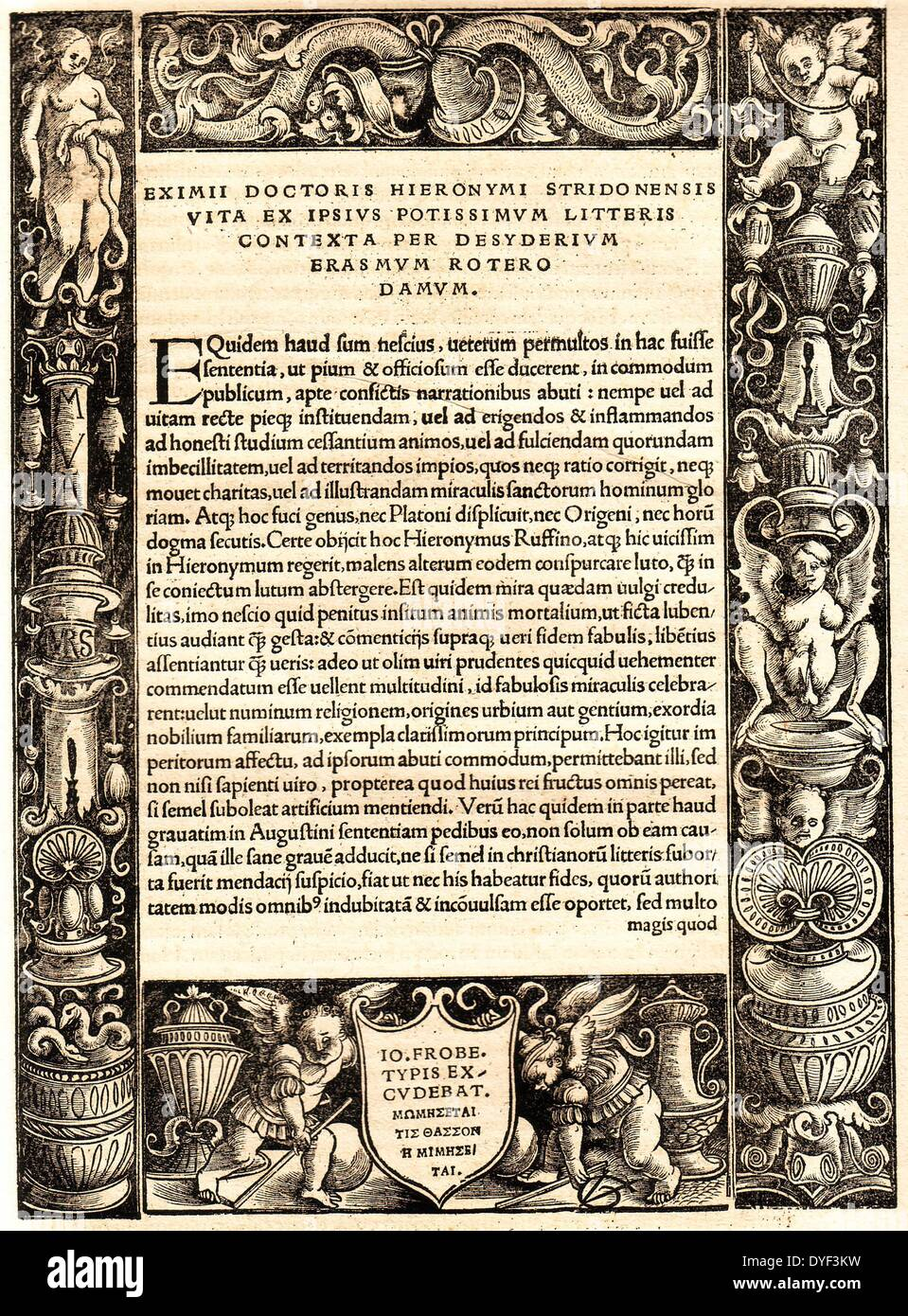 The Latin and Greek New Testament 1516. - Stock Image