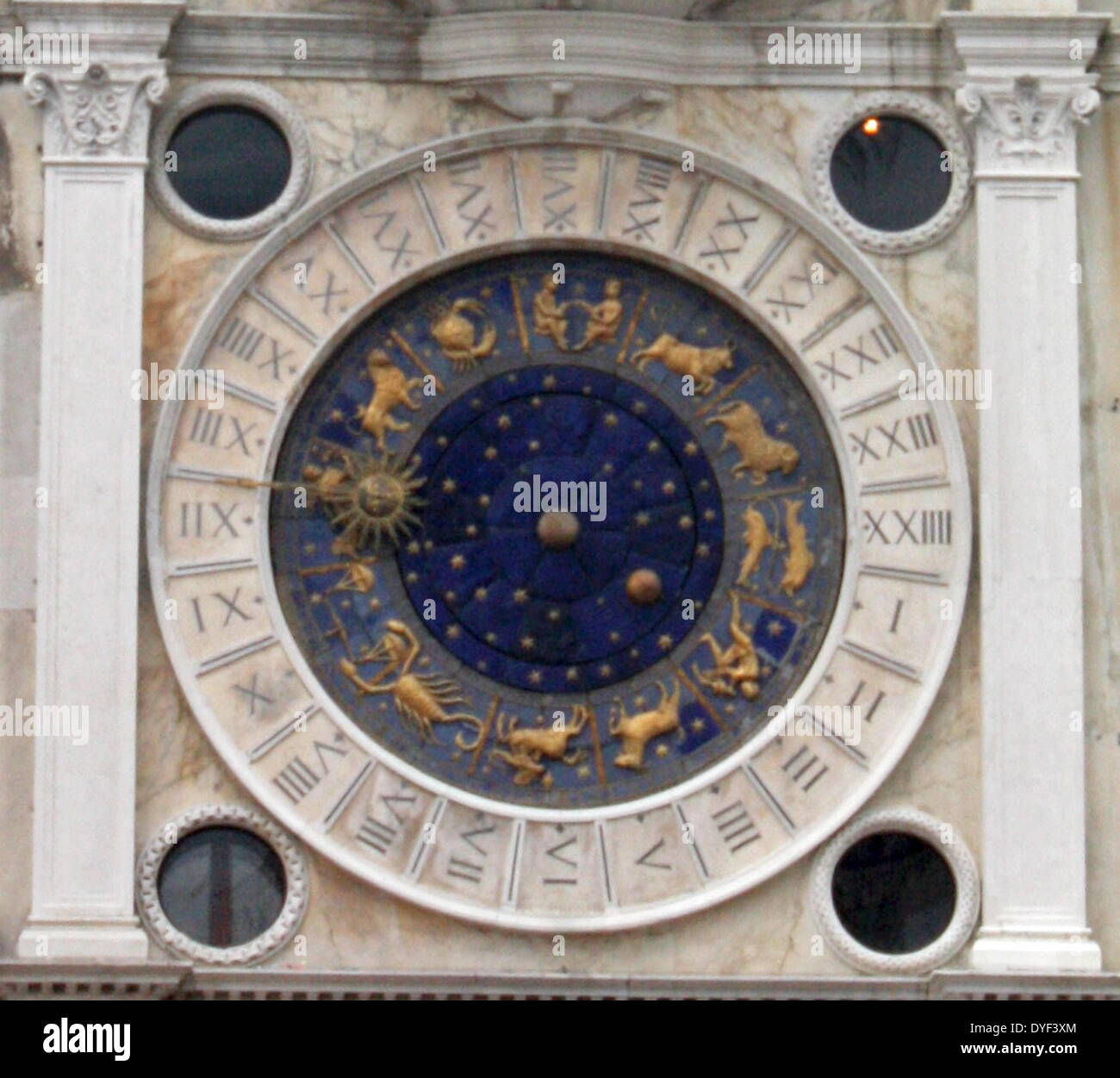 The Clockface of St Mark's Clocktower 2013. - Stock Image