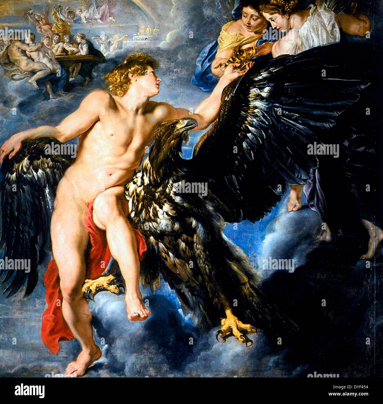 Oil painting 'Abduction of Ganymede' by Peter Paul Rubens - Stock Image