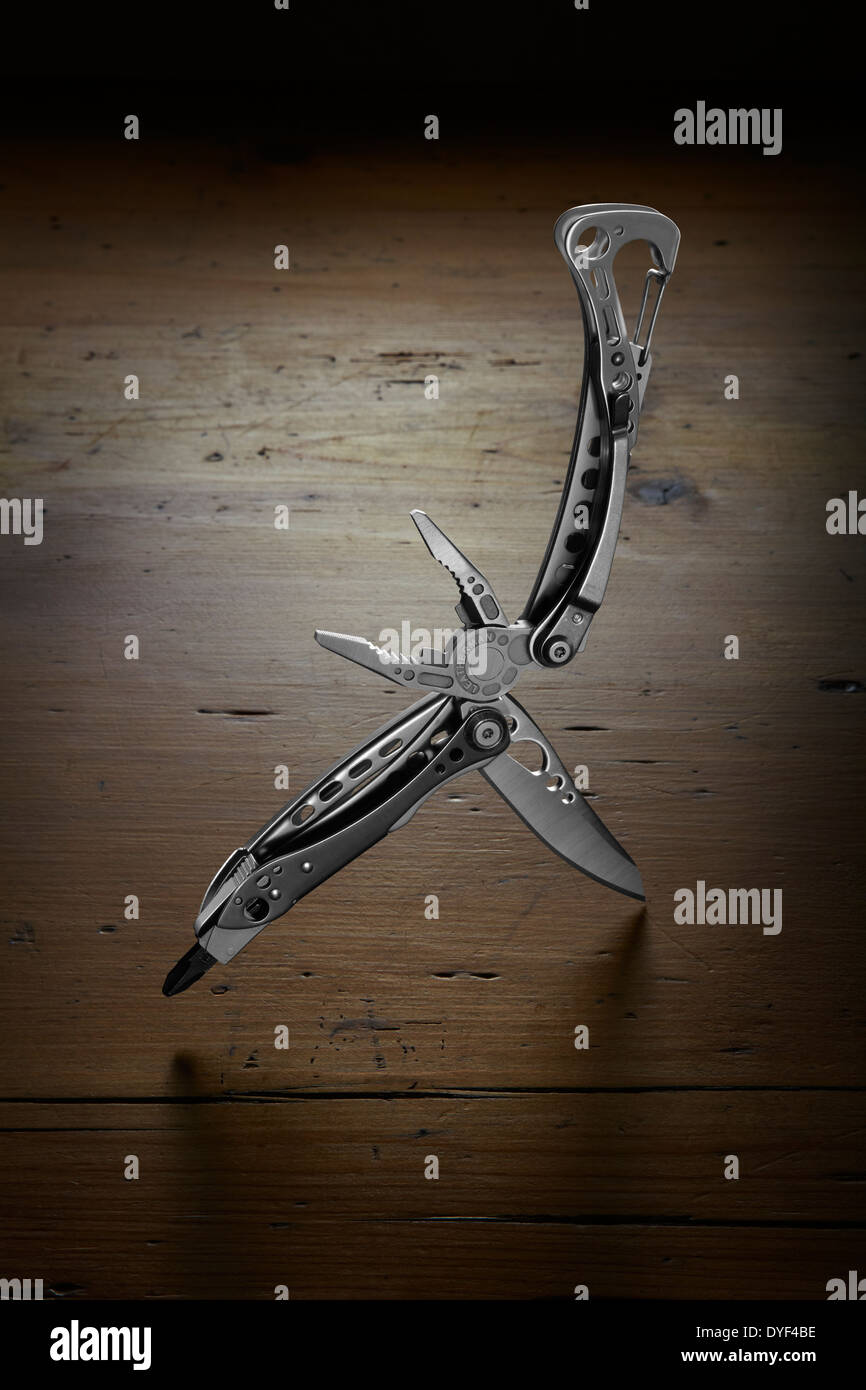 concept photograph of a multi tool - Stock Image