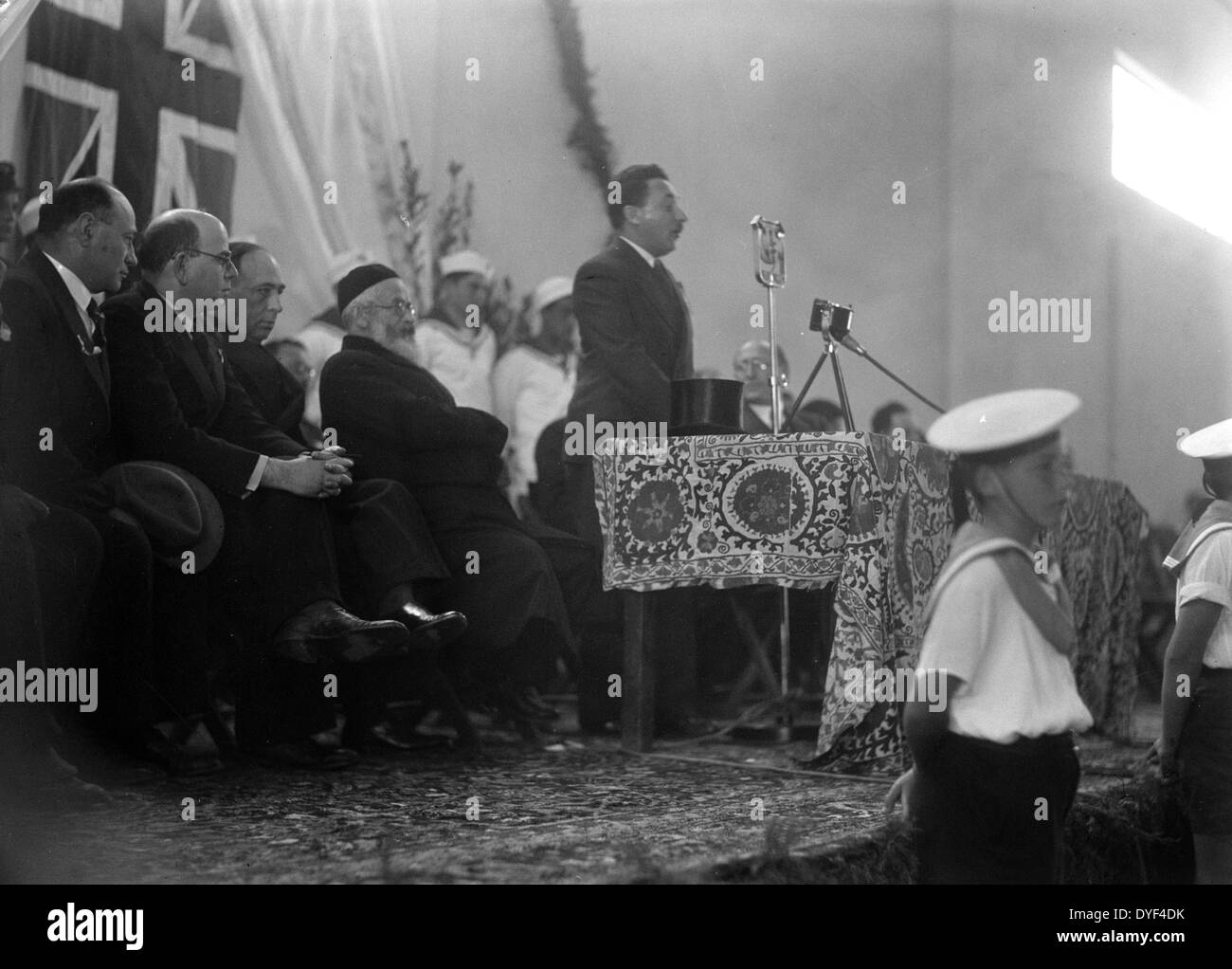 Official Opening of Tel Aviv Port 1938. - Stock Image