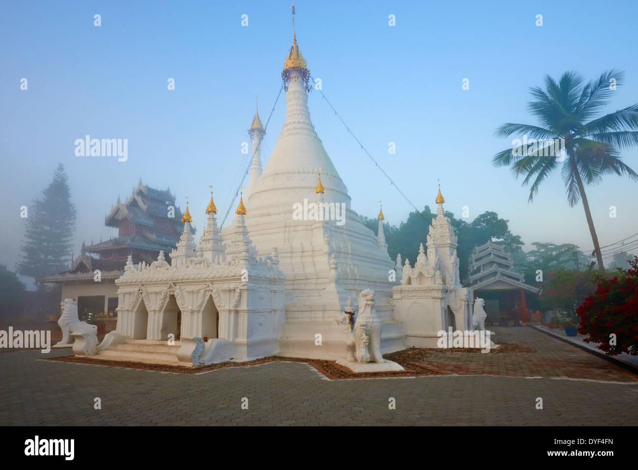 Thailand, Mae Hong Son, Wat Phra That Doi Kong Mu - Stock Image