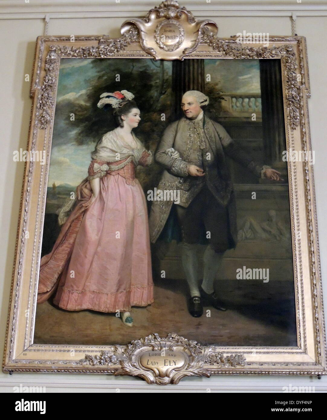 Painting of Earl Henry Loftus and wife Countess Frances Monroe. - Stock Image