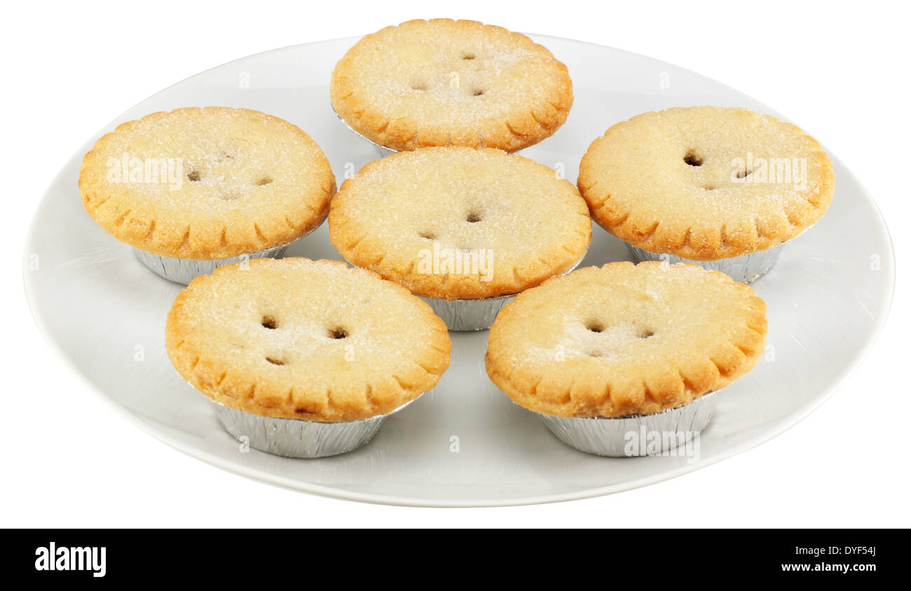 A PLATE OF MINCE PIES IN LITTLE SILVER FOIL CASES - Stock Image  sc 1 st  Alamy & Mince Minced Pie Pies Christmas Festive Xmas Yuletide Food Stock ...