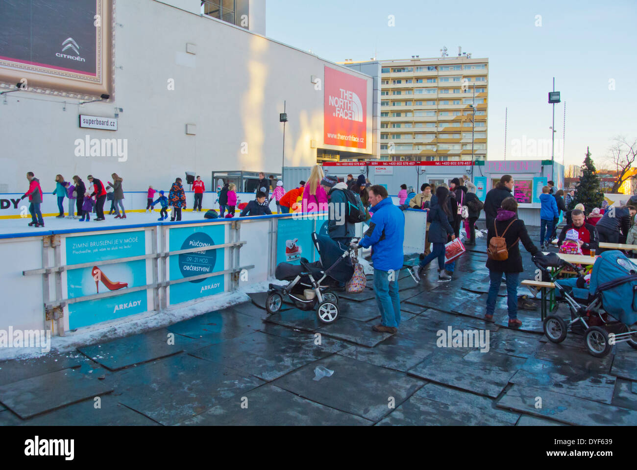 Skating rink, Pankrac district, Prague, Czech Republic, Europe - Stock Image