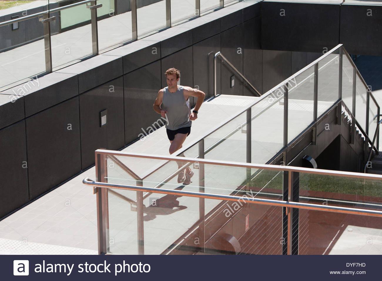 Man running - Stock Image