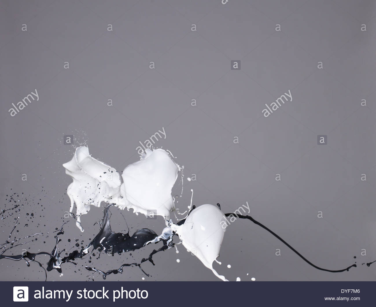 White liquid splashing - Stock Image