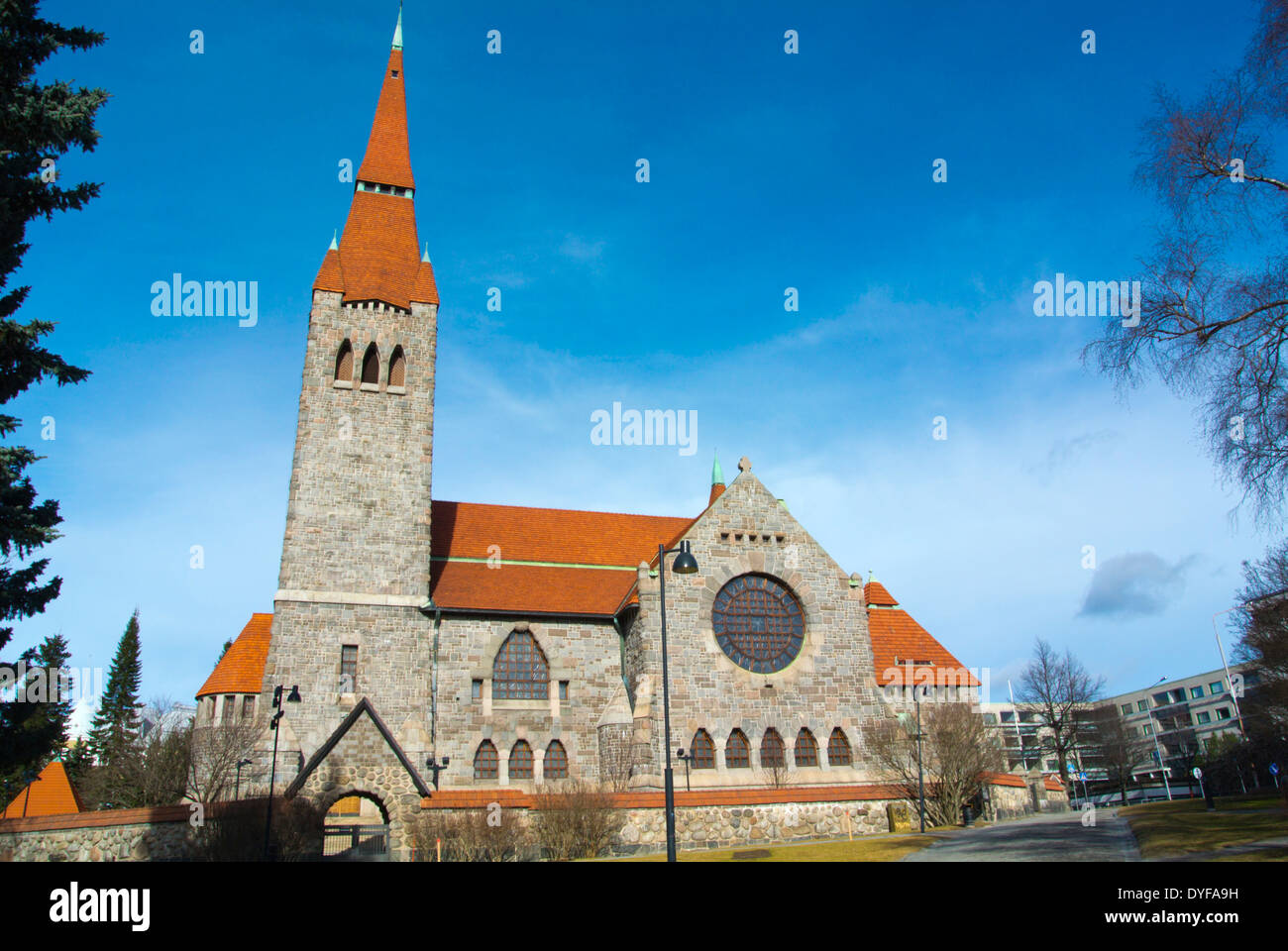 Tampereen tuomiokirkko, Tampere Cathedral (1907), Tampere, central Finland, Europe Stock Photo