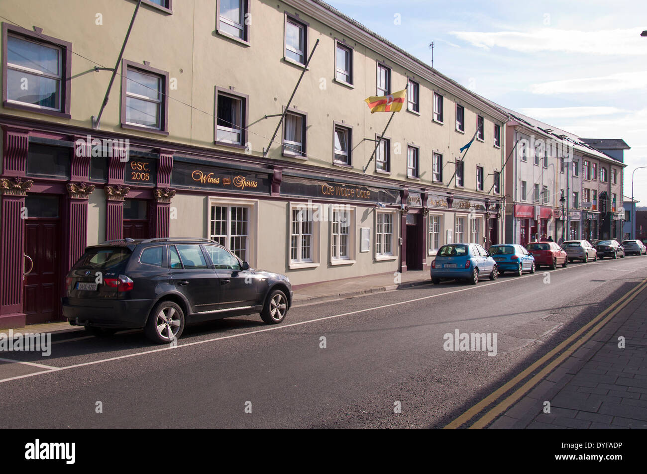 The Wolfe Tone pub bar in Letterkenny County Donegal Ireland - Stock Image