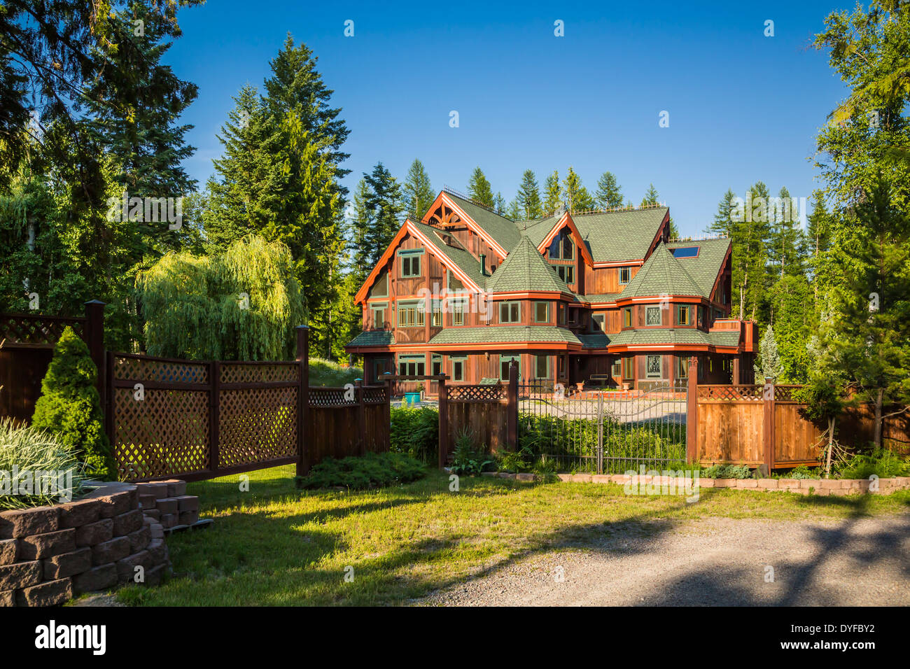 A Large Country Home In The Forest Near Whitefish Lake