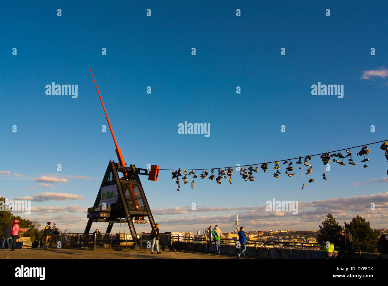 The metronome (1991), Letenske Sady park, Prague, Czech Republic, Europe - Stock Image