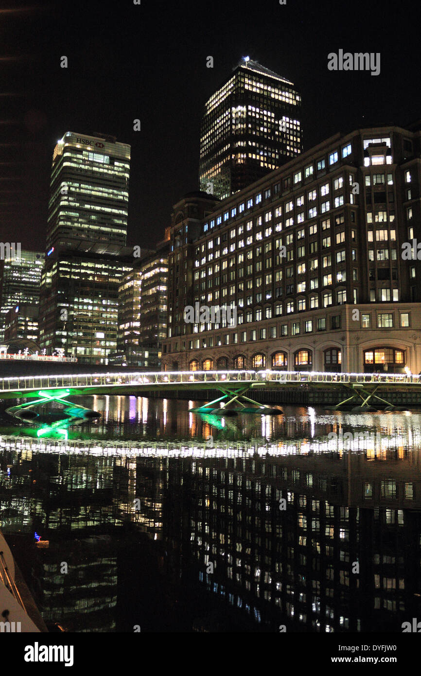 Canary Wharf is the British financial centre in Docklands, East London, England, UK. - Stock Image