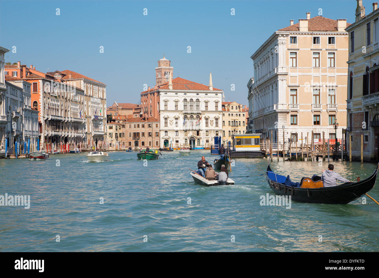 VENICE, ITALY - MARCH 13, 2014: Canal Grande. - Stock Image