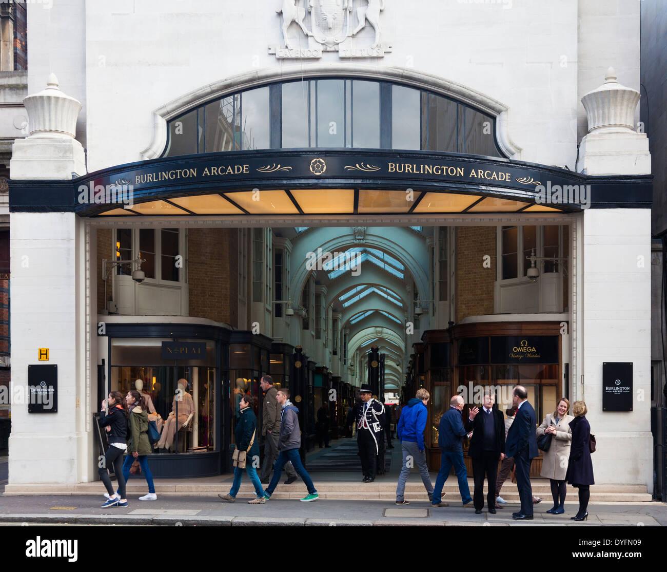 Burlington Arcade, London, UK - Stock Image