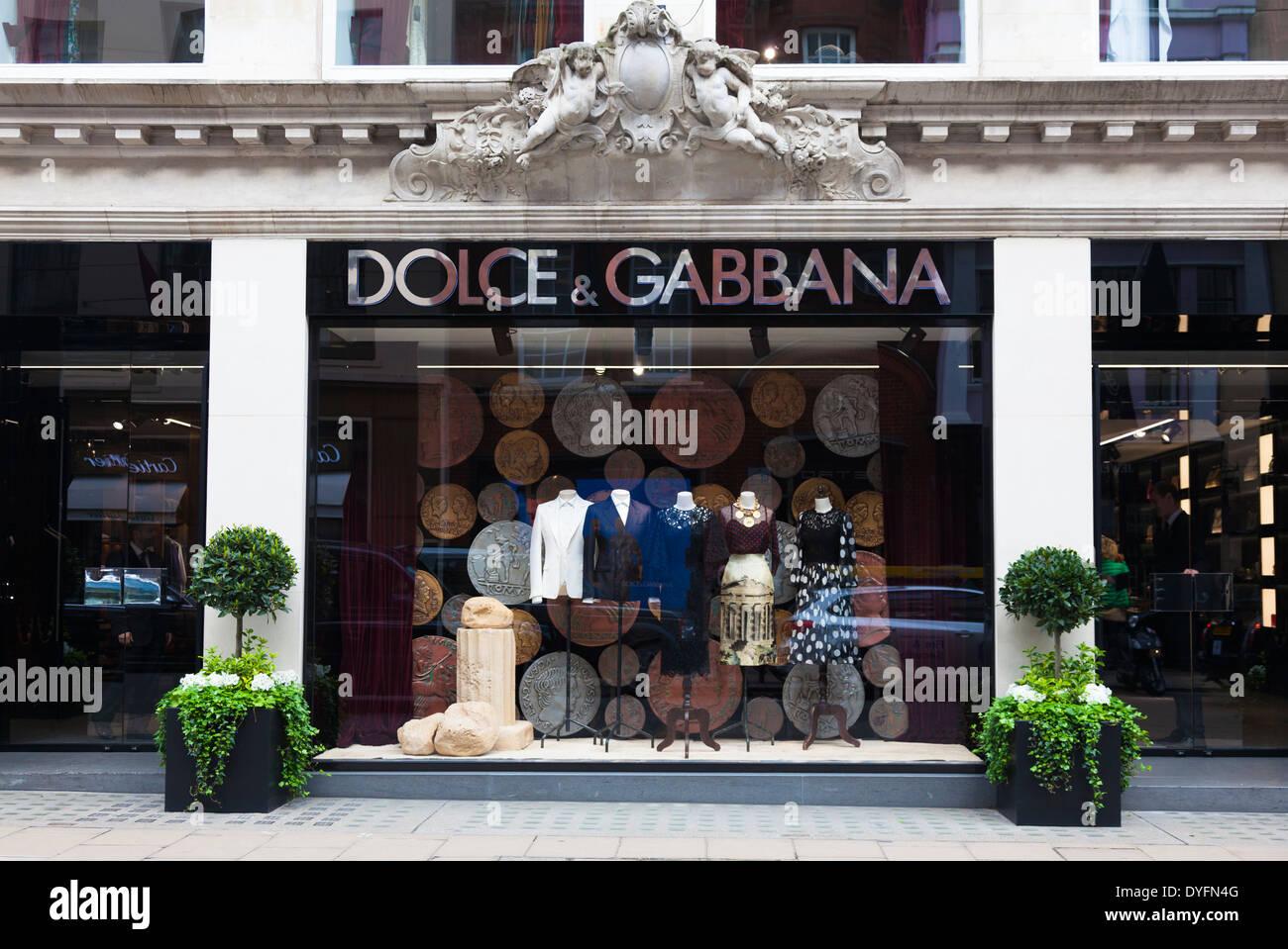 Dolce & Gabbana, Old Bond Street, London, UK. - Stock Image