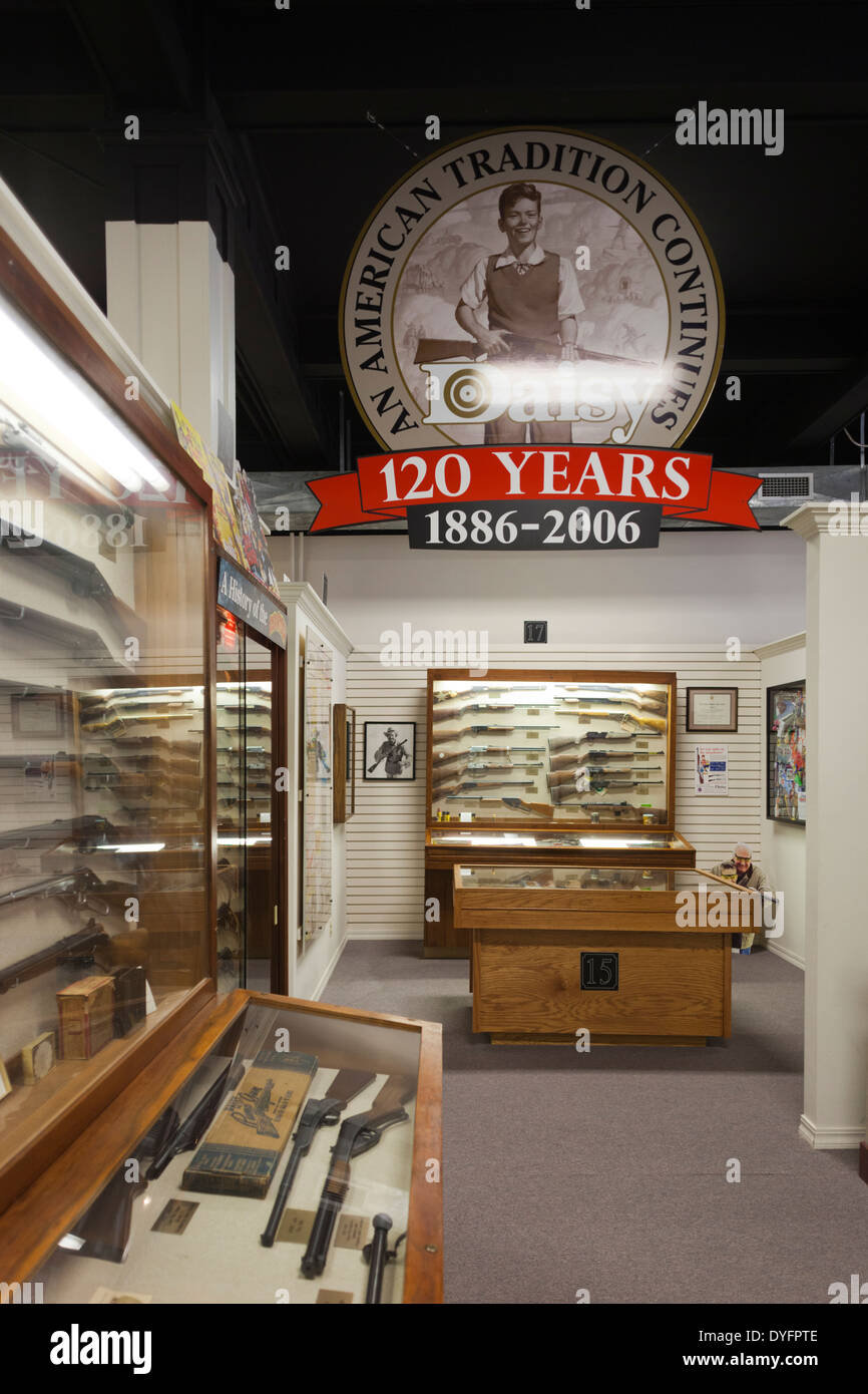 USA, Arkansas, Rogers, The Rogers Daisy Air Gun Museum interior with