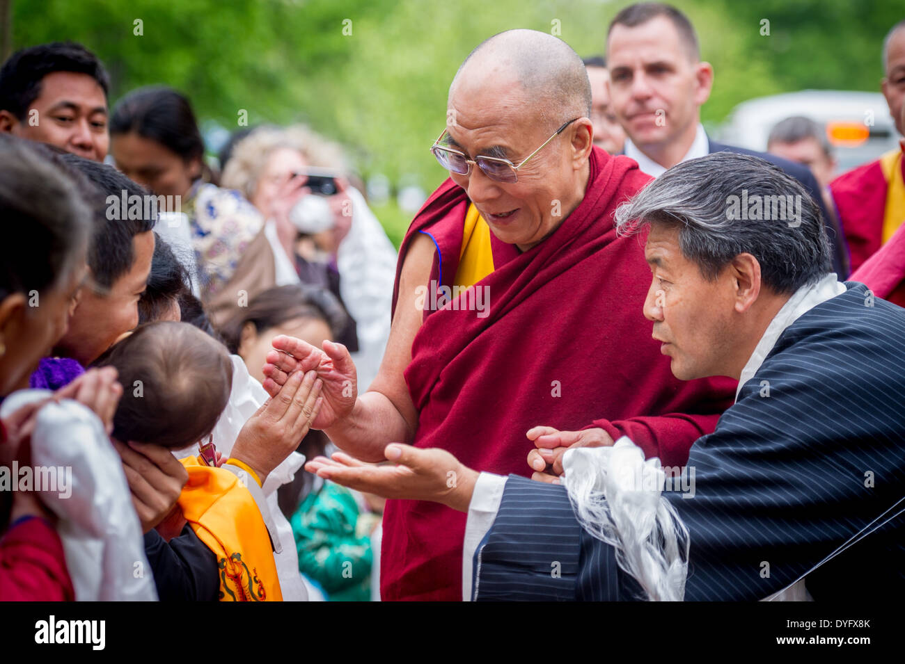 Dalai Lama Arrives at University of Maryland - Stock Image