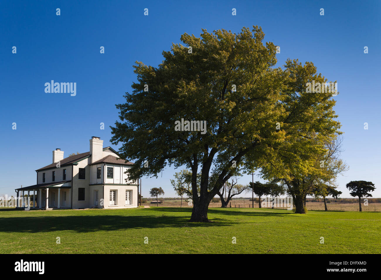 USA, Oklahoma, El Reno, Fort Reno, former Indian Wars military outpost and POW camp for German prisoners in WWII - Stock Image