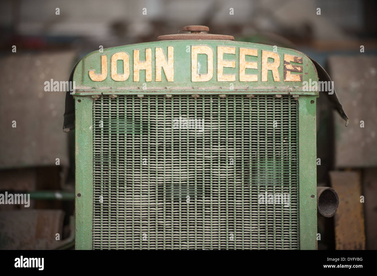 Close-up of John Deere Tractor Princess Anne, MD - Stock Image