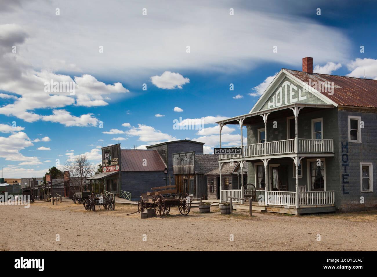 USA, South Dakota, Stamford, 1880 Town, pioneer village - Stock Image