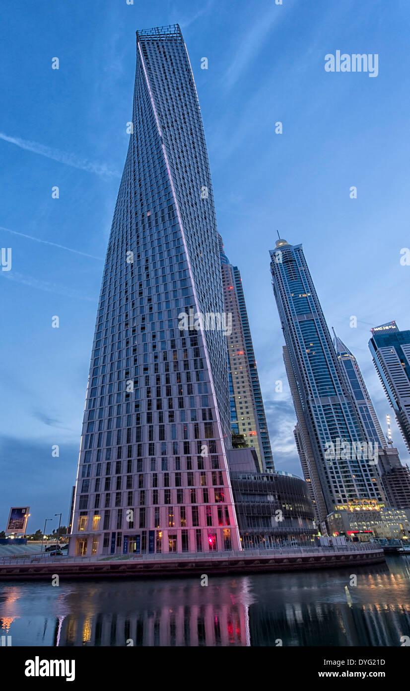 Cayan Tower in Dubai Marina, UAE - Stock Image