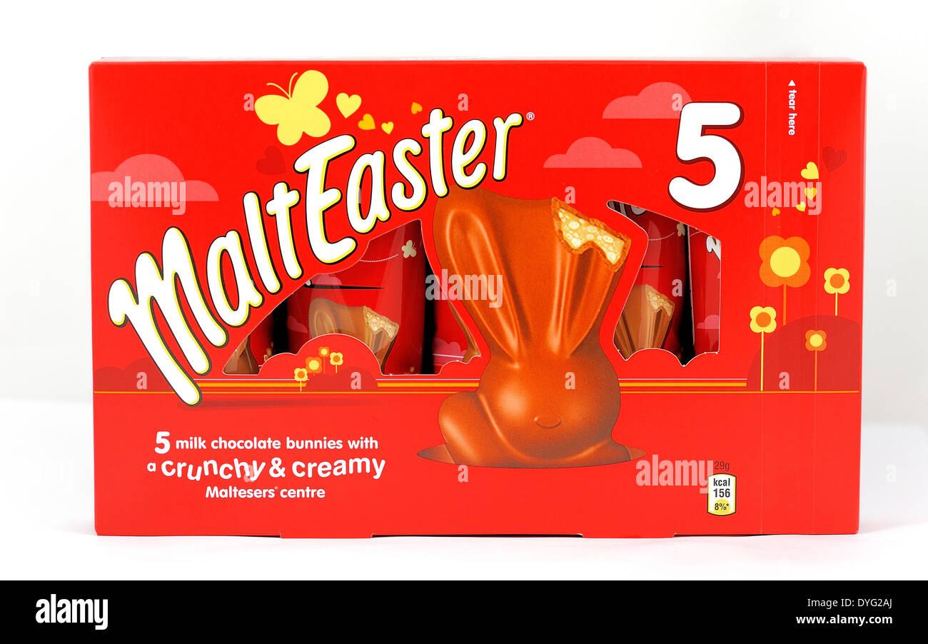 Malteaster easter malteser bars retail  5 pack - Stock Image
