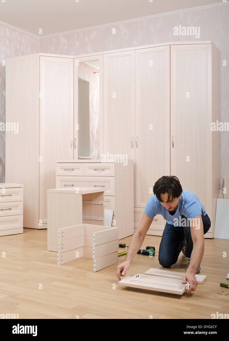 master collects in room set to furniture - Stock Image