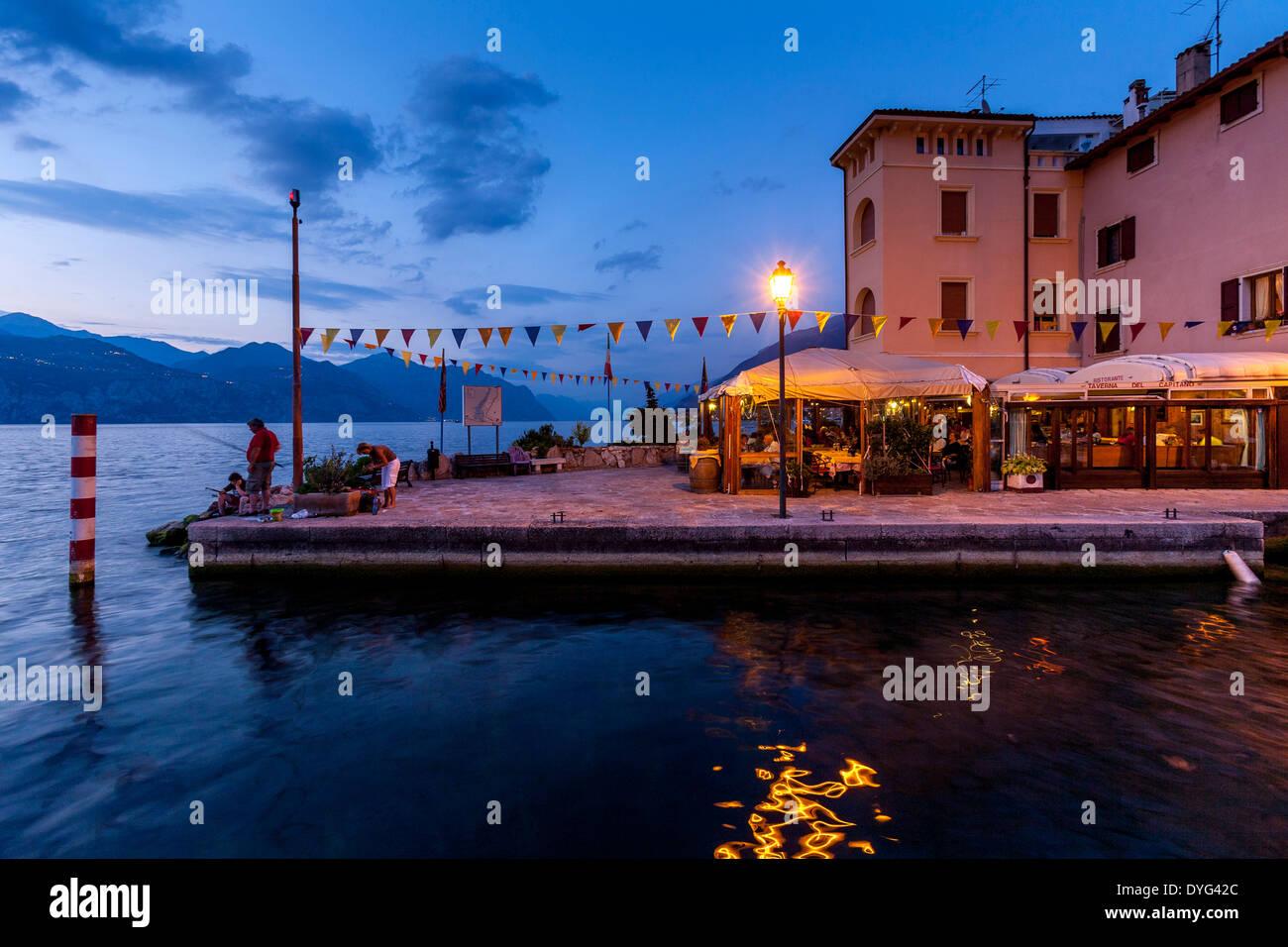 Porto di Brenzone, Lake Garda, Veneto, Italy - Stock Image