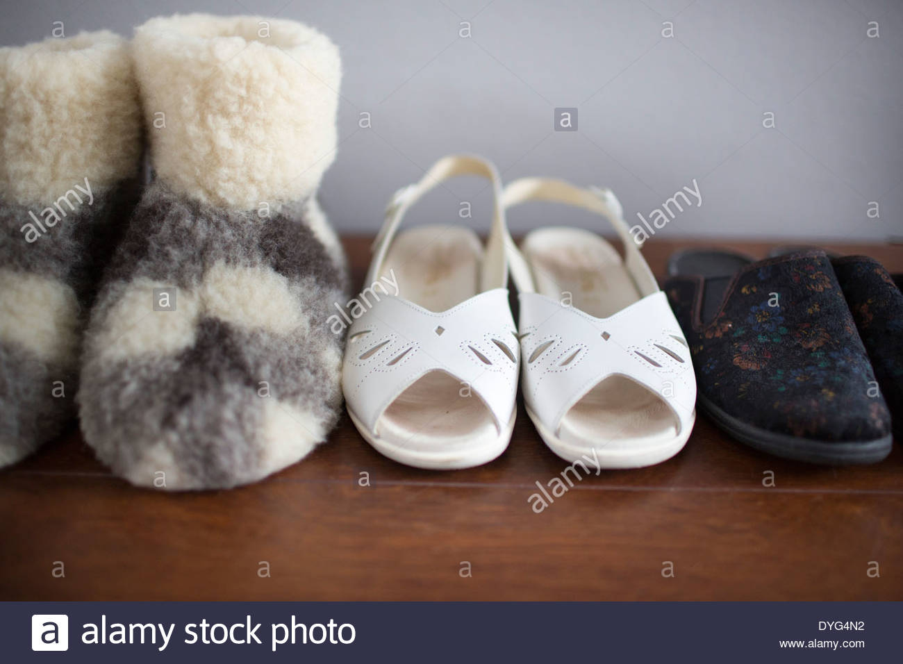 Close-up of slippers - Stock Image