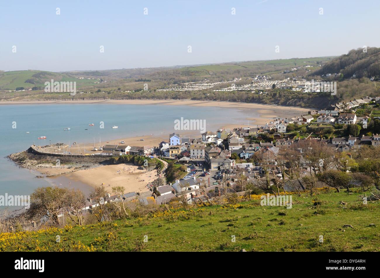 New Quay Ceredigion Wales Cymru UK GB - Stock Image