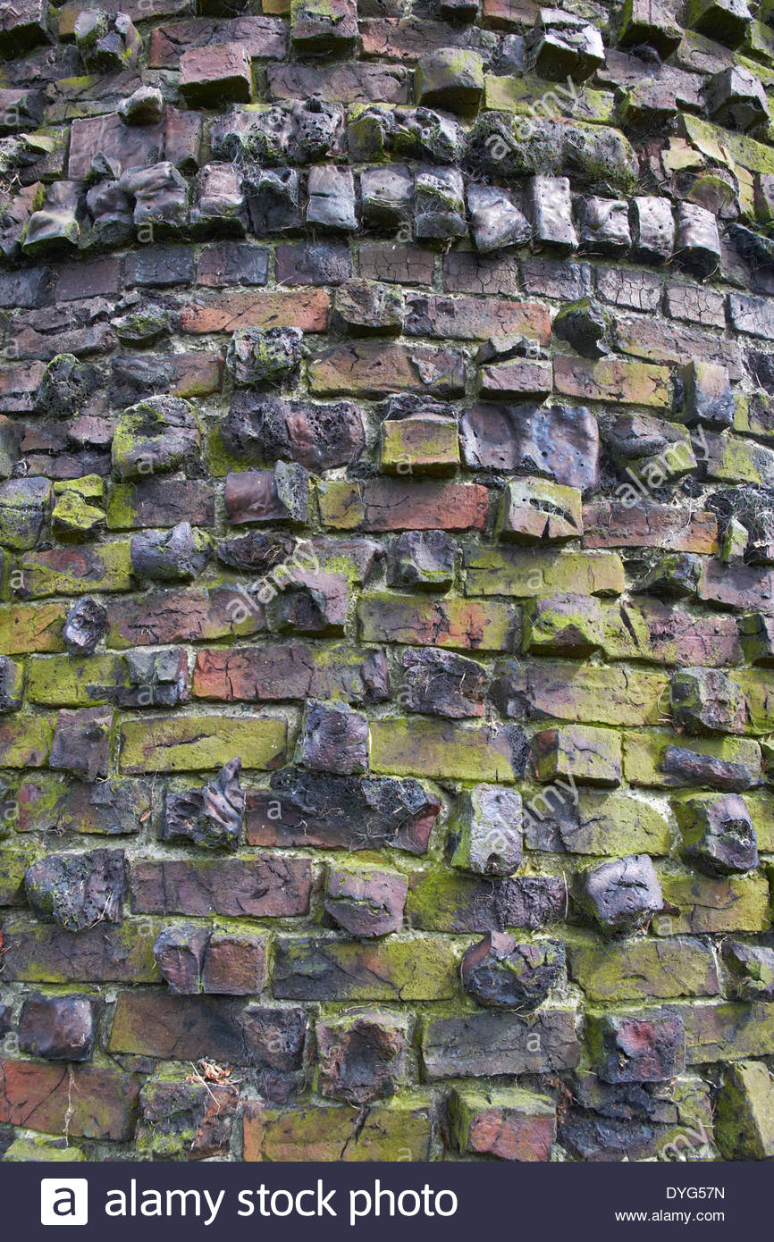 Bettison's Tower,or Folly, Willows Drive, Hornsea Sometimes known as the Forgotten Folly. Detail of brickwork Stock Photo