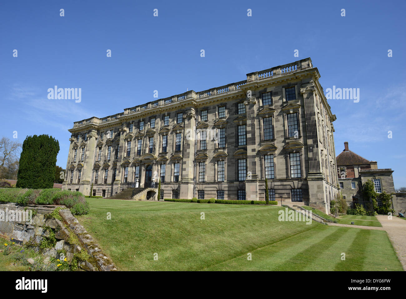 Stoneleigh Abbey in Warwickshire. A listed building which was once visited by Jane Austen and Queen Victoria. - Stock Image