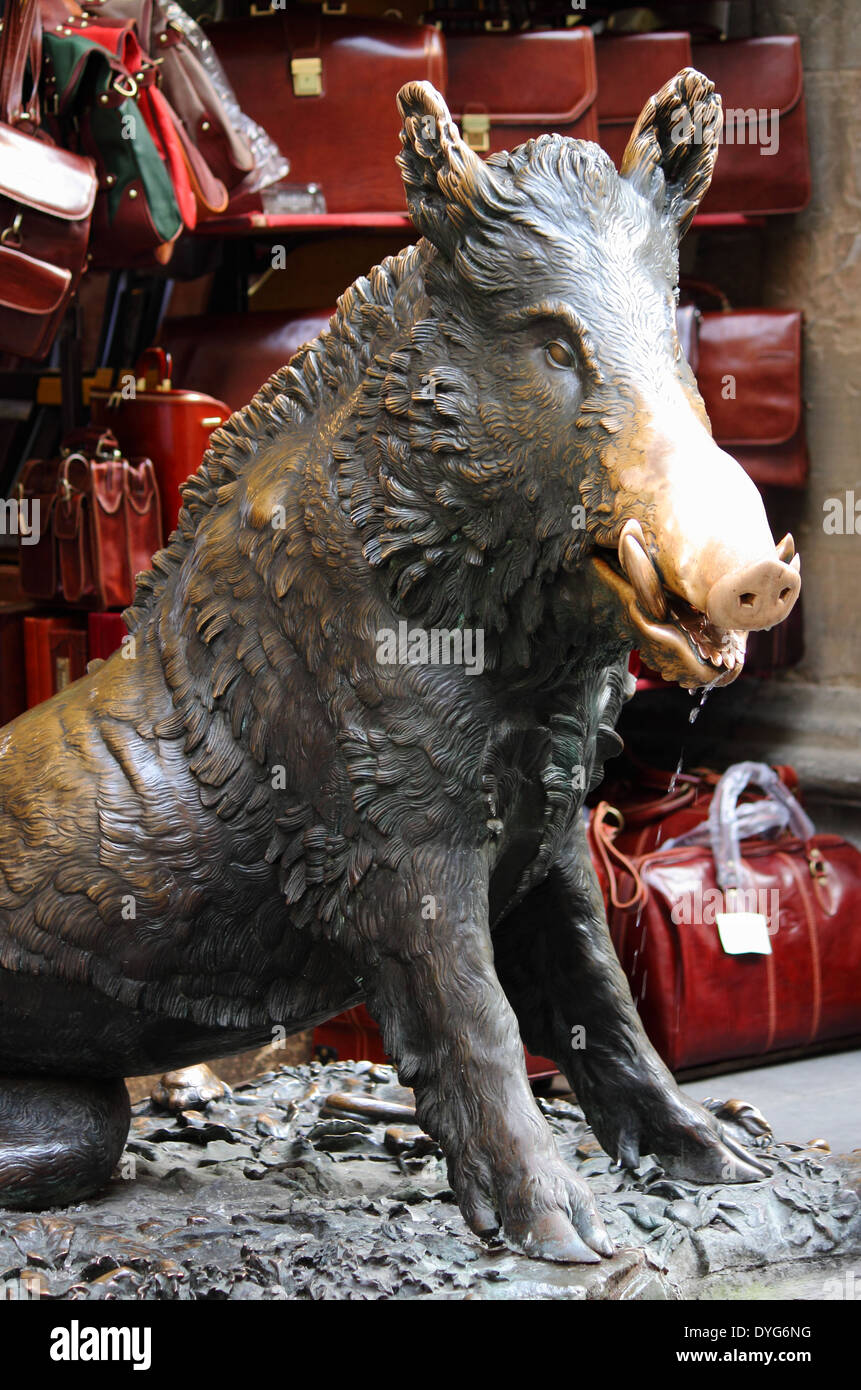 The Bronze Pig Statue One Of The Symbols Of Florence Italy Stock