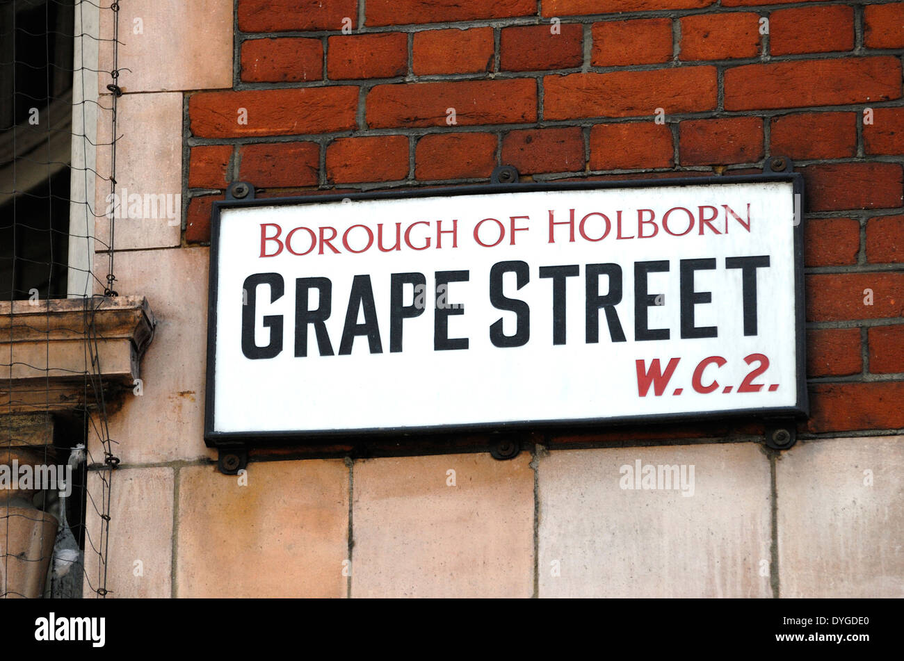 London, England, UK. Grape Street in Holborn - Stock Image