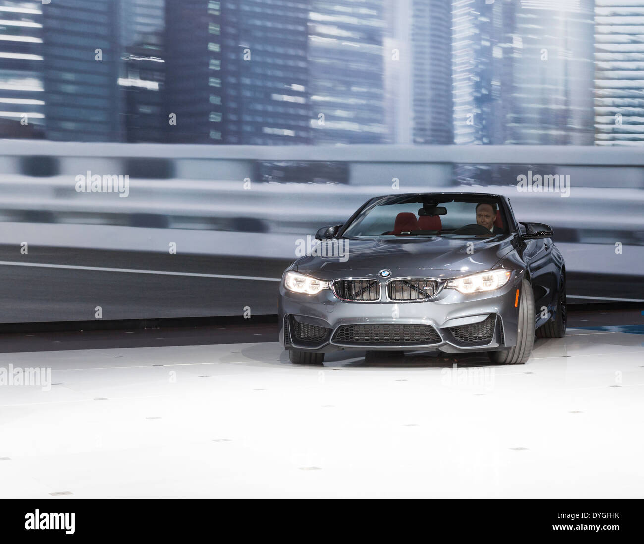 President and CEO BMW North America Ludwig Willisch drives BMW Stock