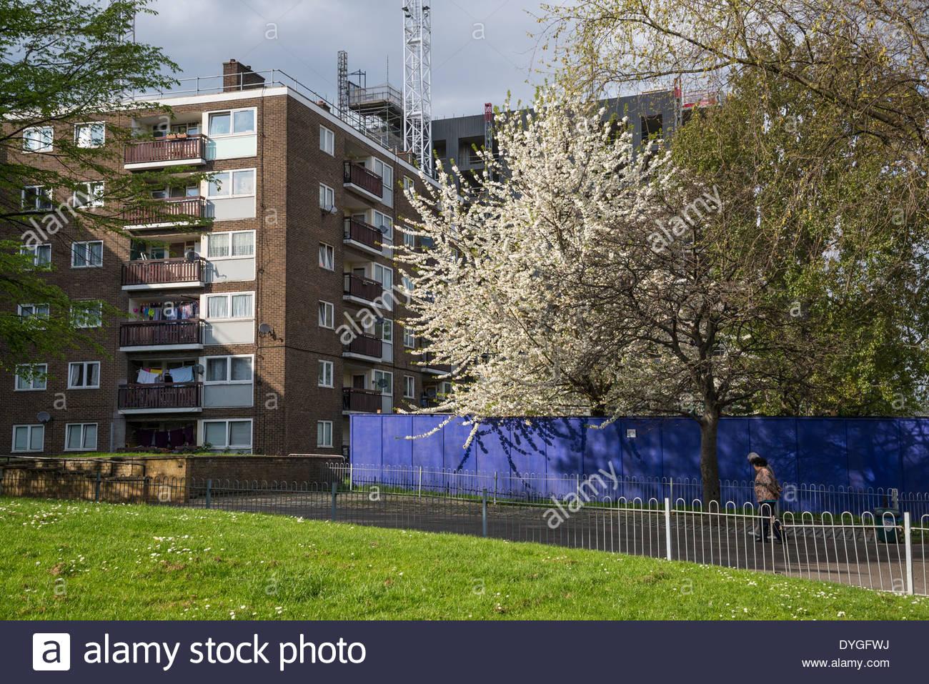 Council housing estate, Bermondsey, Southwark, London, UK - Stock Image
