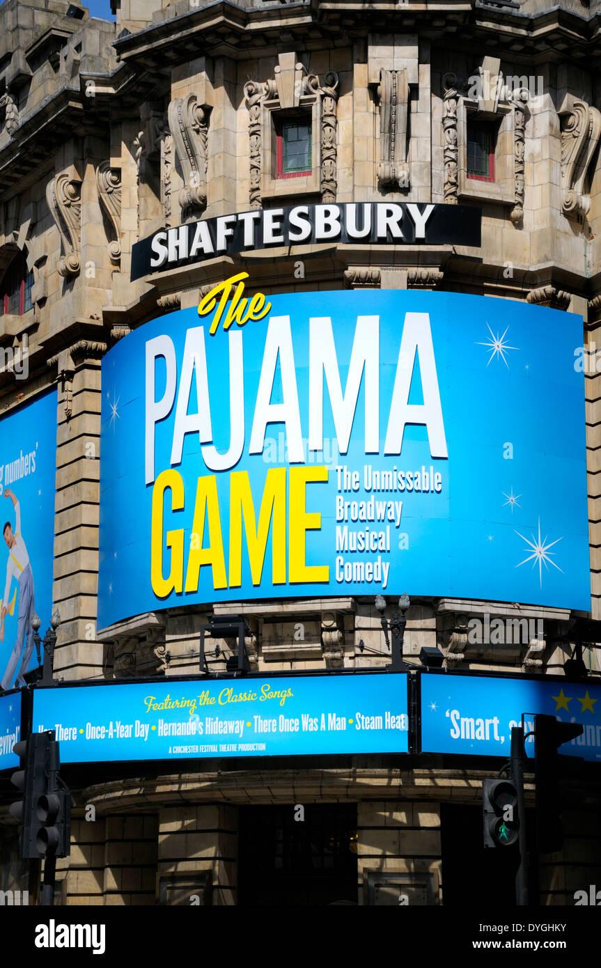 London, England, UK. The Pajama Game at the Shaftesbury Theatre, April 2014 - Stock Image
