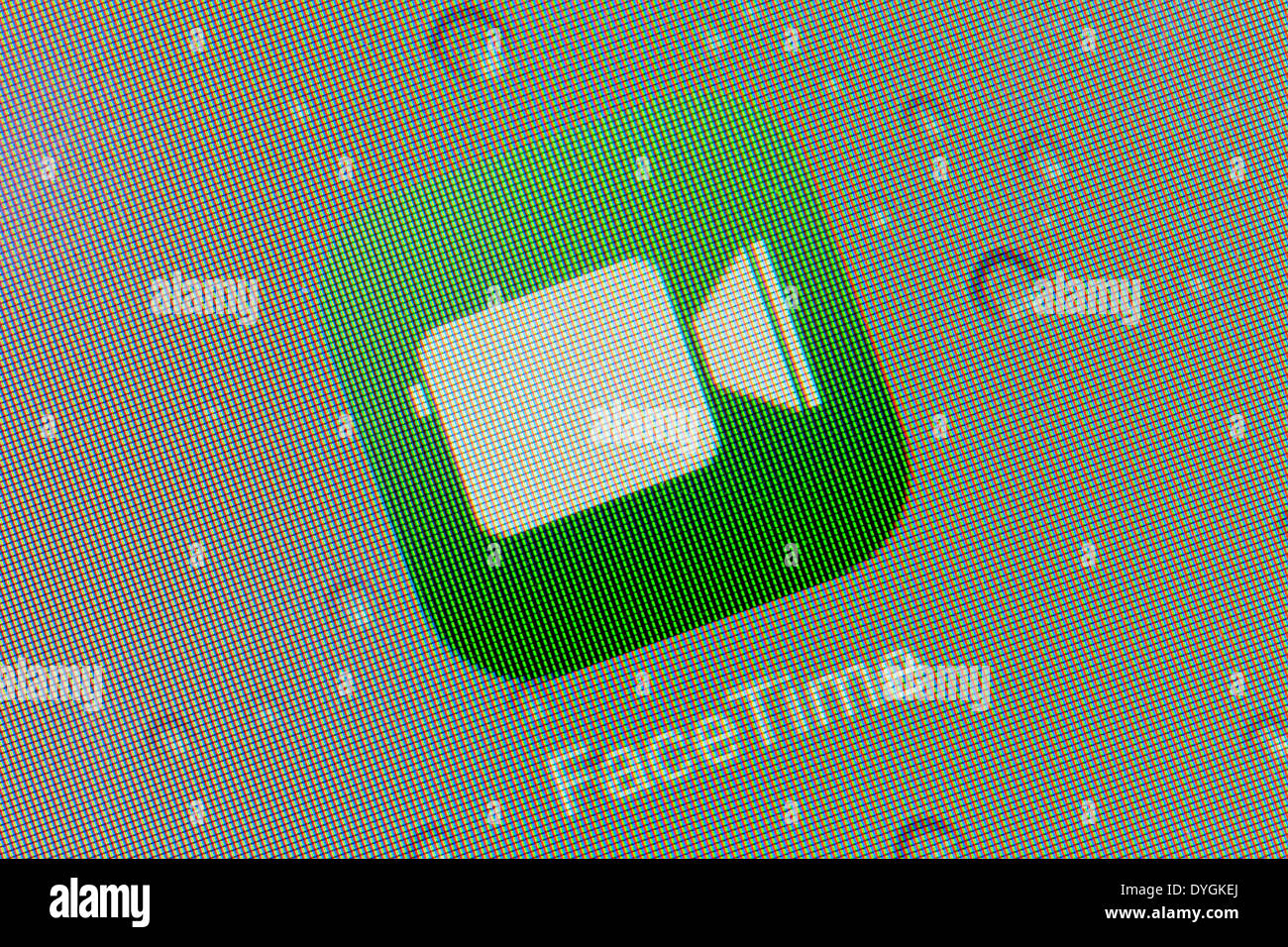 Apple facetime app logo icon on iPad apps logos icons - Stock Image