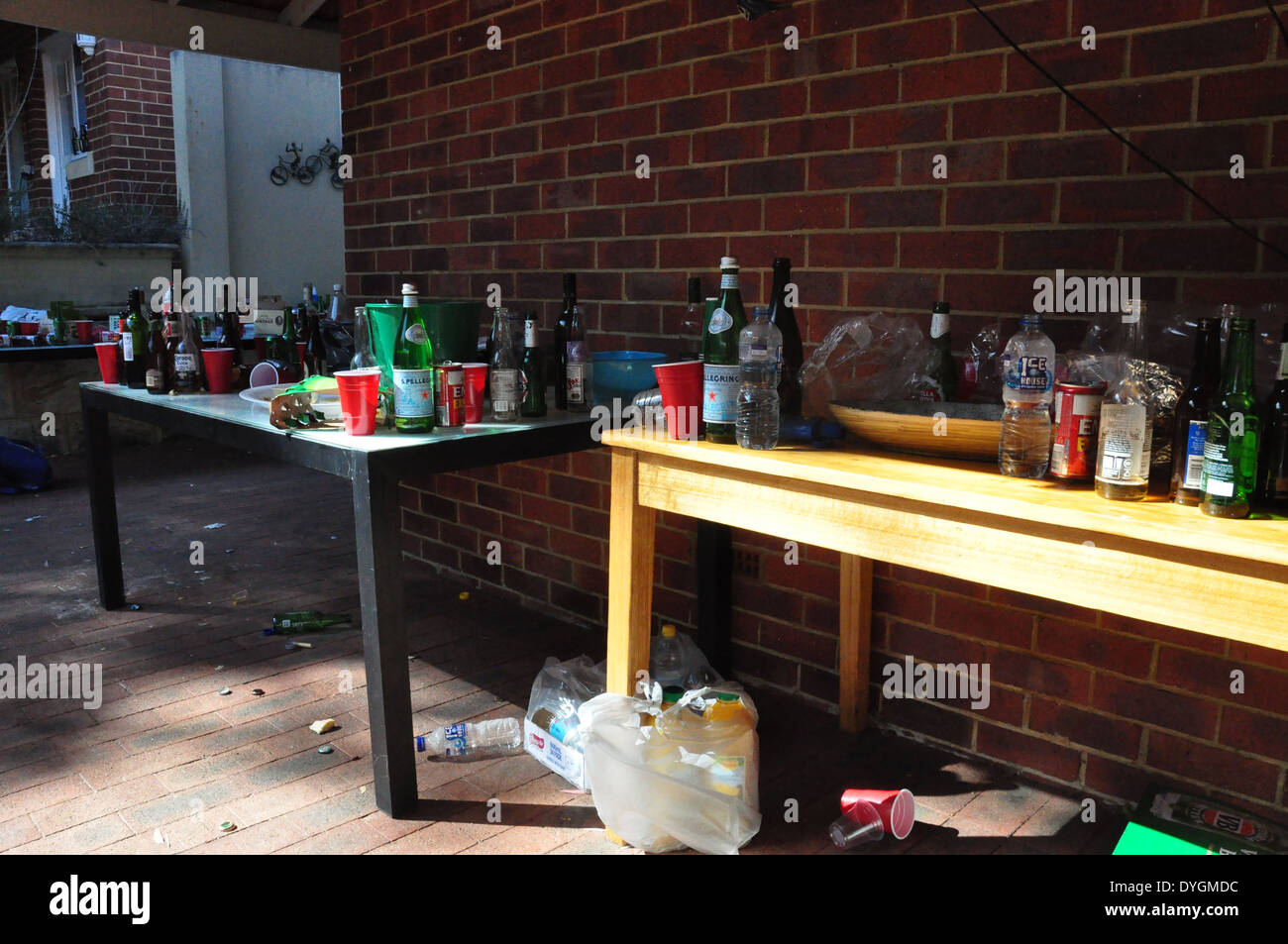 The day after a teenagers' party. - Stock Image