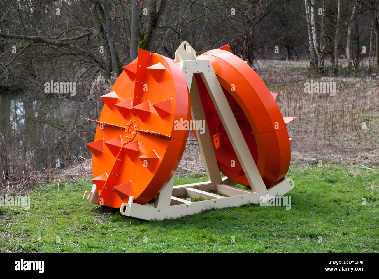 Tread Pad by James Capper  at Yorkshire Sculpture Park, UK - Stock Image