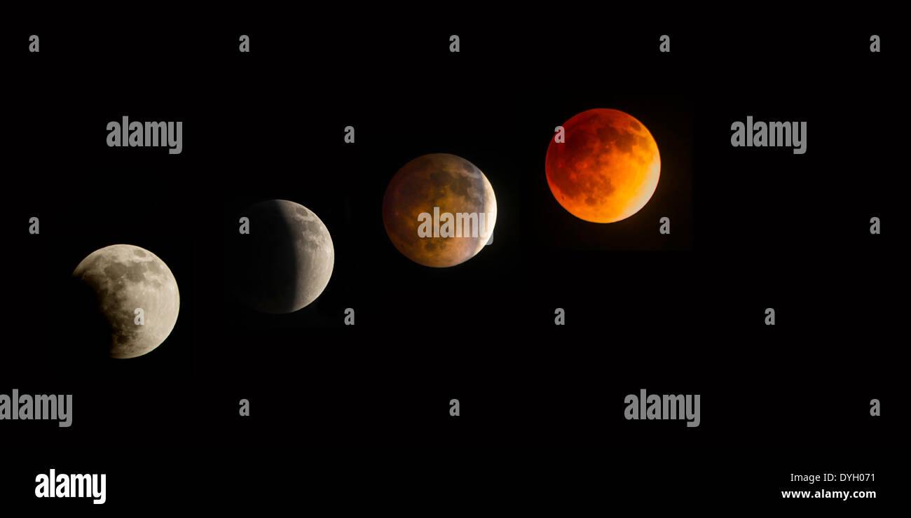 'Blood Moon' Transformation - Stock Image