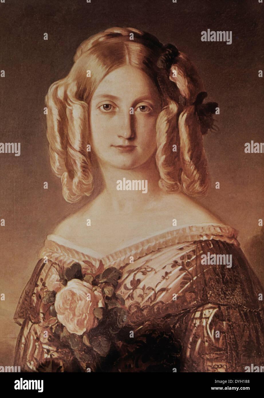 Maria Carolina (1822–1869) Princess of Bourbon-Two Sicilies, Duchess of Aumale, Portrait by  Franz Winterhalter - Stock Image