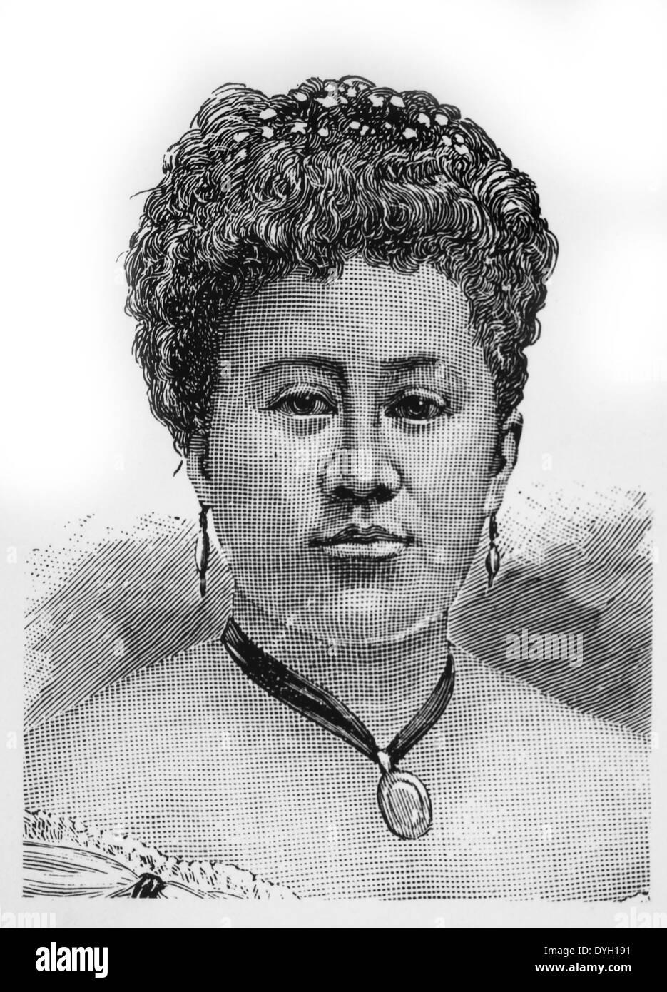 Kapiolani (1834-1899), Queen of the Kingdom of Hawaii, 1874-1891, Portrait - Stock Image