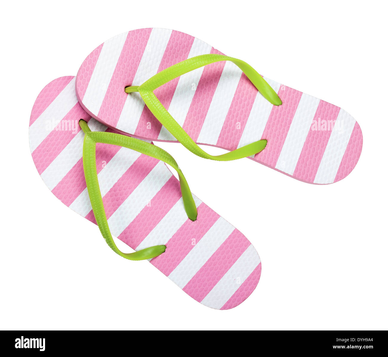 f9d5dfab466c Flip flops isolated on white background. Top view Stock Photo ...