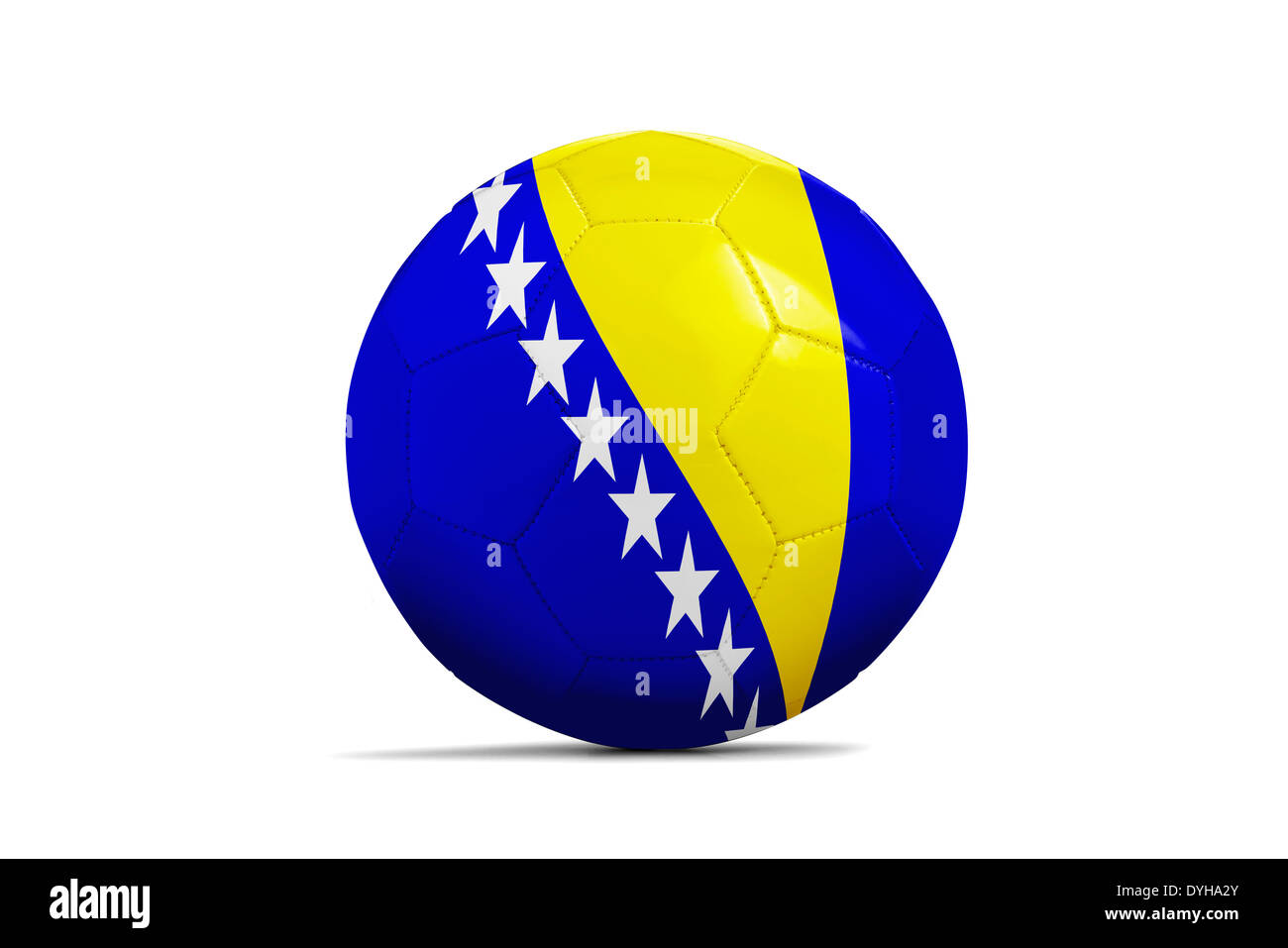 Soccer balls with teams flags, Football Brazil 2014. Group F, Bosnia and Herzegovina - Stock Image