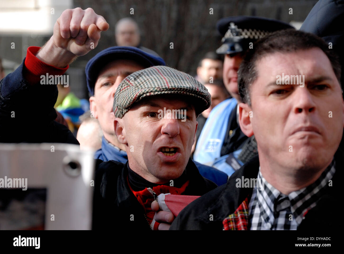 Lee Rigby Murder Trial Sentencing - Old Bailey 26 Feb. Right-wing groups campaigning for re-introduction of the death penalty - Stock Image