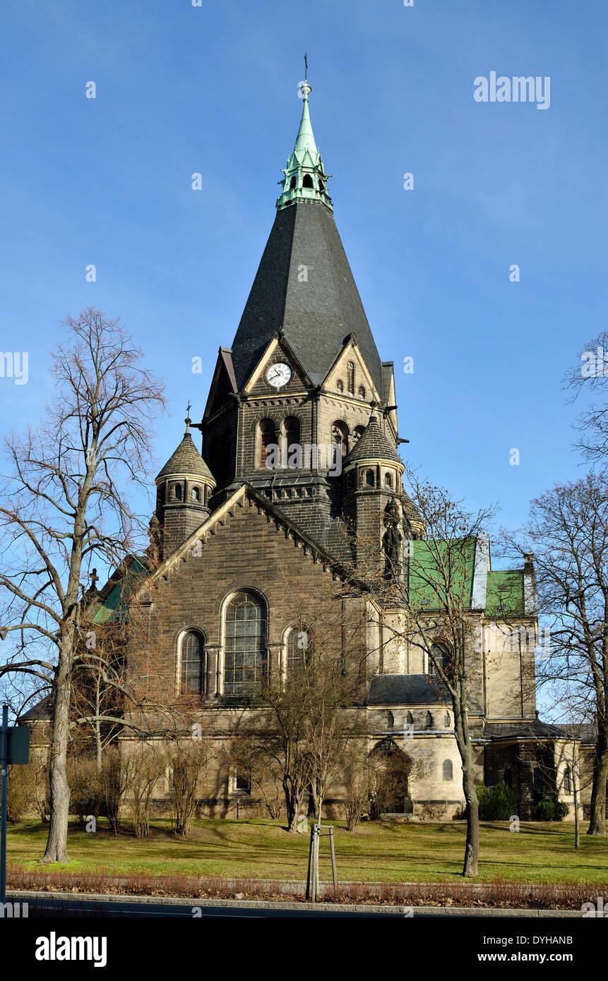 Riesa, Kirche Sankt Trinitatis am Lutherplatz - Stock Image