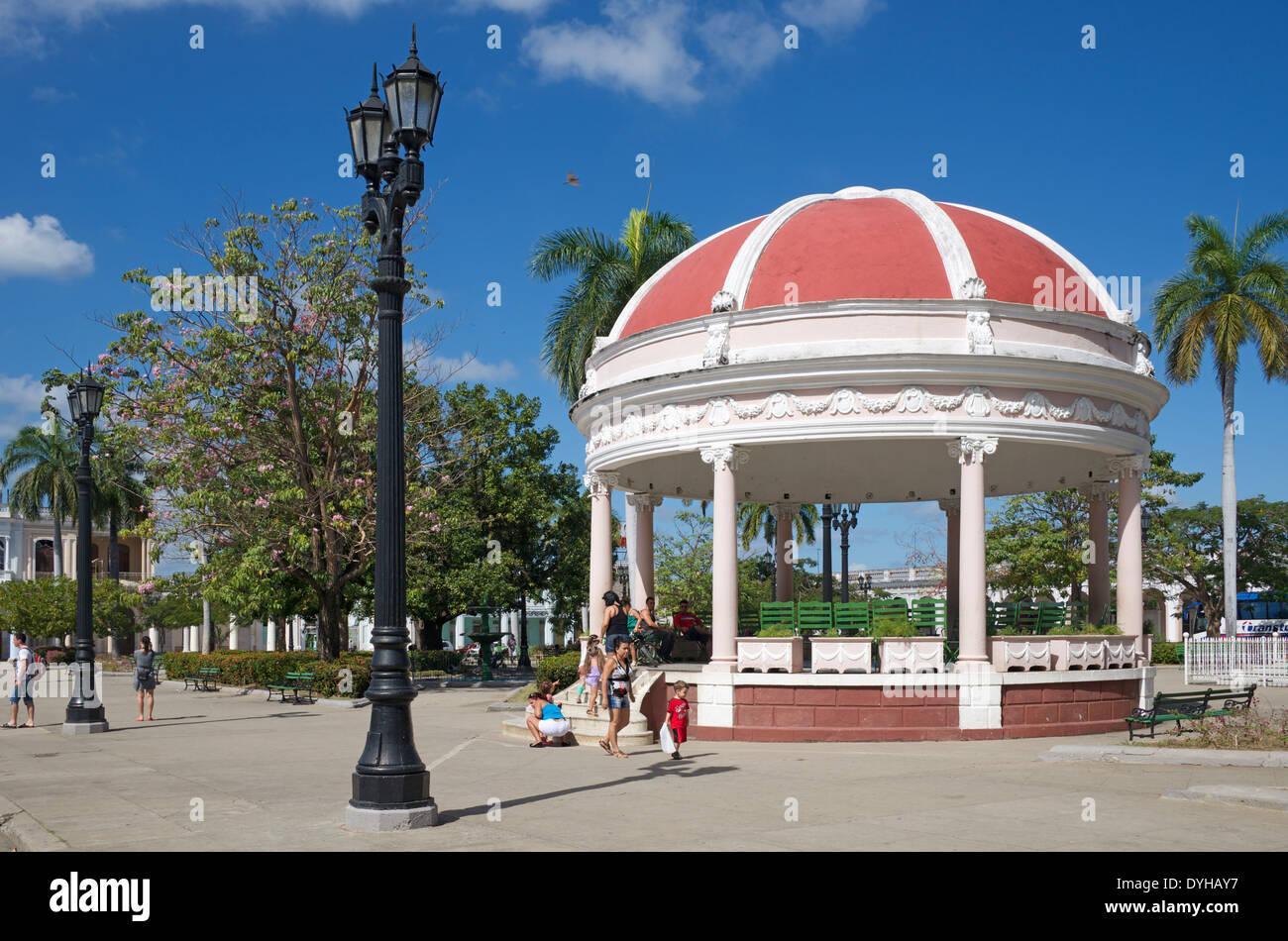 Bandstand Parque Marti Cienfuegos Cuba Stock Photo