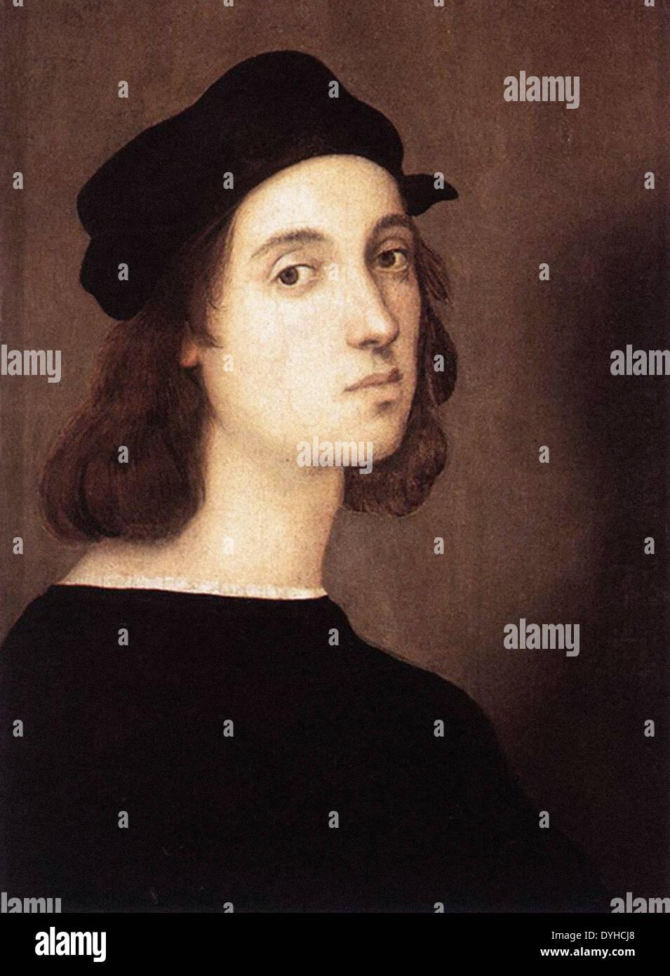Raphael Self Portrait - Stock Image