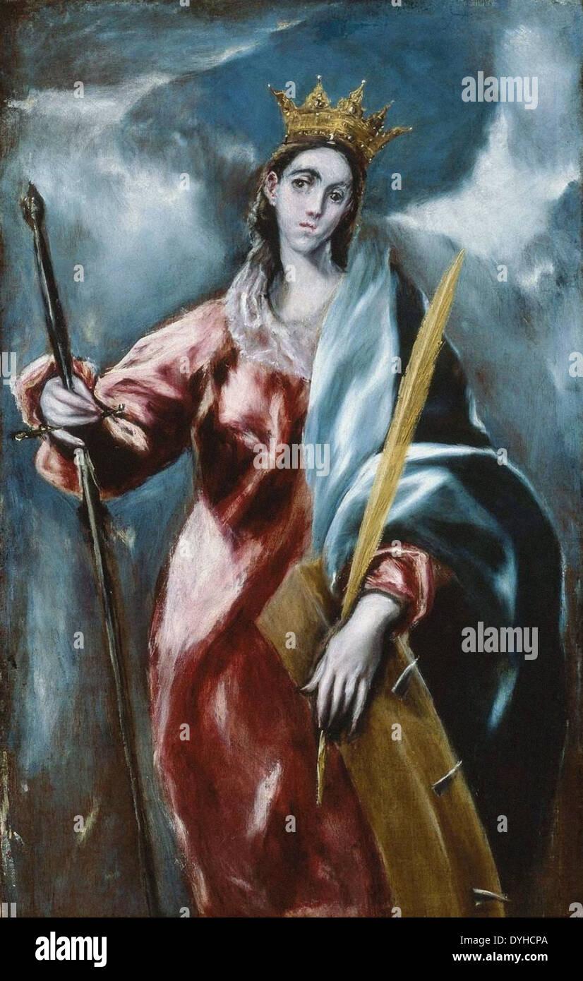 El Greco Saint Catherine - Stock Image